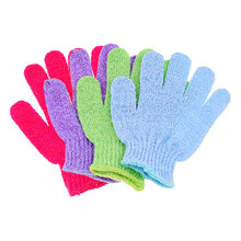 (30 Pcs/Lot) Good Nylon Quality Useful Indoor Scrub Bathe Gloves,Size 15.5*15.5 CM,Mixed colors