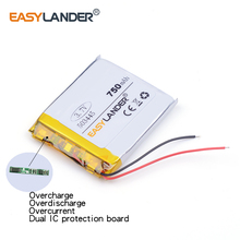 503445 3.7v lithium ion rechargeable battery polymer lithium battery 3,7 V 750MAH For mp3 mp4 mp5 phone recorder 053445
