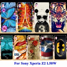 AKABEILA Soft TPU Hard Plastic Painted mobile phone case for Sony Xperia Z2 L50W C770X D6503 Bag Covers Back cover Skin sheath(China)