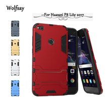 Wolfsay case Huawei P8 Lite 2017 cover Case For Huawei P8 Lite 2017 Fundas Slim Robot Armor Rubber case For Huawei Honor 8 Lite!