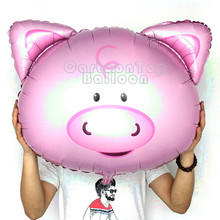 20pcs/lot 30inch Large Inflatable animal balloons cute pig foil balloon birthday party decotation air globos baby shower toys