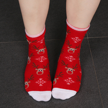 Fashion Women Men Winter Socks Christmas Gift Warm sock Cute Snowflake Deer Comfortable Sock