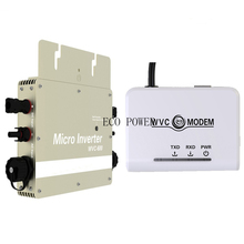 Update Solar Power Grid Tie Inverter 600W Micro Inverter + WVC Modem with 433 Mhz wireless communication(China)