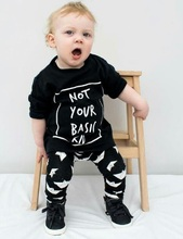 Newborn Baby Boys Kids Girl Cotton T-shirt Tops+Pants Outfits Clothes Sets 0-2Y Factory Price