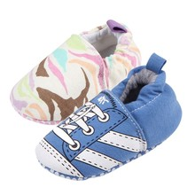 Newborn Baby Girl Shoes Fancy Blue Pink Pumps Baby Shoes Sports Casual Birthday Party Girls Shoes(China)