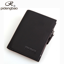 pidengbao Hot Sale Men Wallets Famous Brand Designer Wallet PU Nubuck Skin Mens Purse Short Mens Wallet With Coin Pocket