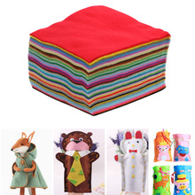 40PCS Nonwoven Felt Fabric polyester sleeve soft cloth Kids DIY Christmas Craft 1mm Thick Mixed Color Home Decoration(China)