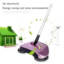 Mop broom 360 Rotary Home Use Magic Manual Telescopic Floor Dust Sweeper With adjustable handle Easy transaction have red color(China)