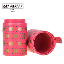 KAY GARLEY pu leather travel cosmetic brushes pen holder storage empty holder makeup artist bag brushes organizer make up tools