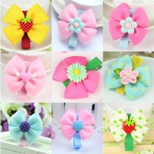 1PCS Newly Design Fashion Grosgrain Big Bow Hairpins Baby Hair Accessories Children Headdress Girls Cute Hair Clips Headwear