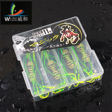 4pcs Explosive Hooks Shone Fluorescent Green Monsters Bulb Carpets Lure Fish Hooks Accessories For Winter Night Carp Fishing