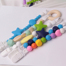 Buy Baby Pacifier Clip Chain Silicone Holder Soother Teething Pacifier Food Grade Silicone Nipple Infant Feeding BNZ17 for $3.69 in AliExpress store