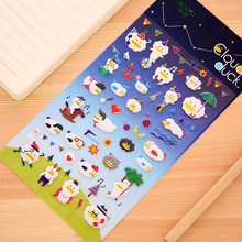 G08 1 Sheet Cute Kawaii Cloud Duck Bubbe Stickers DIY Label PVC Phone Hand Account Decorative Stickers Stationery Kids Gift
