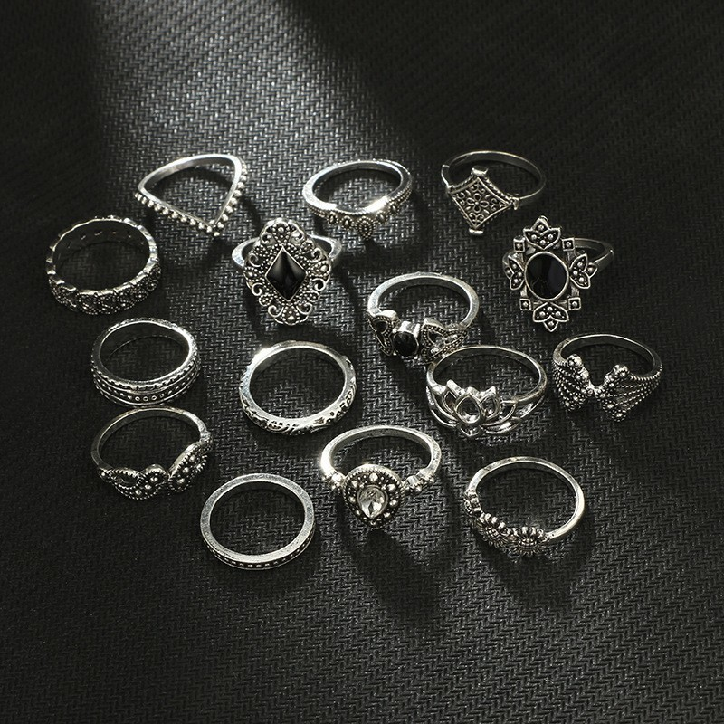Girls Jewelry 15pcs/set Rings