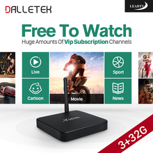Dalletektv 3G X98PRO Android 6.0 TV Box Amlogic S912 with 1 Year LEADTV Code IPTV Subscription Arabic French Channels IPTV Box