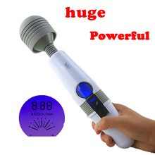 Powerful 9 Speed USB Rechargeable LCD Display Touch Vibrator,Magic Wand Clitoral Stimulator,AV Stick Vibrator Sex Toys For Women(China)