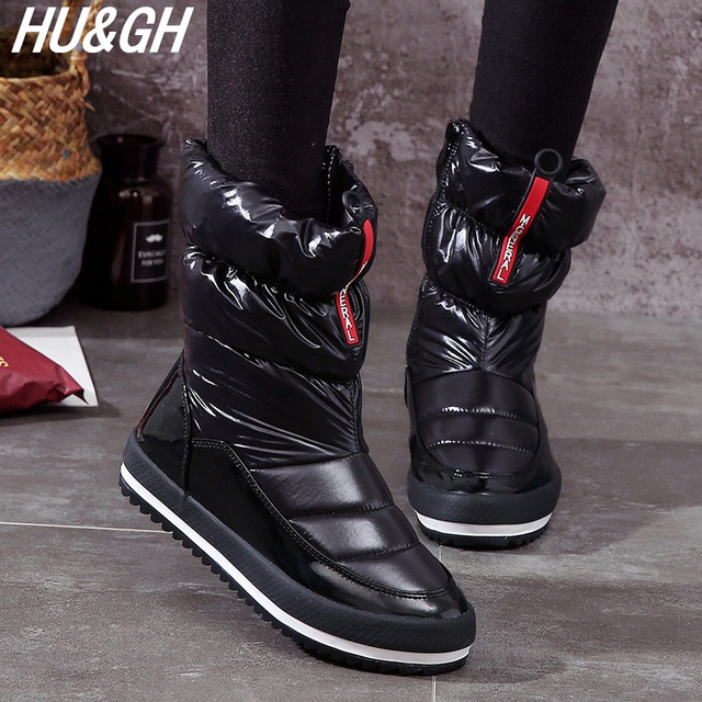 2018 New Winter Women Warm Snow Boots Students thick bottom comfortable  waterproof   non-slip 56e9de76ec5c