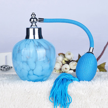 Blue Vintage 150ml Crystal Glass Perfume Bottle Long Spray Atomizer Lady Gift Refillable Bottles Beauty Tools(China)