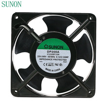 SUNON DP200A P/N 2123XBT.GN 0.14A 12038 220V 120*120*38mm industrial case cabinet cooling fan 120mm(China)