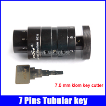 7.0 mm 7 pins tubular klom key cutter machine professiona locksmith supplies free shipping