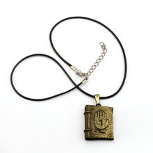 Buy Game Jewelry Gravity Falls Journal 3 Necklace Book Pendant Fashion Rope Chain Necklaces Women Men Charm Gifts for $1.53 in AliExpress store