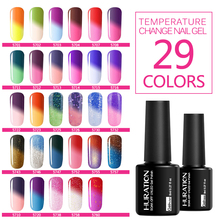 Huration 8ml Temperature Chameleon 29 Color UV LED Nail Gel Polish Long Lasting Gel Nail Varnish Semi permanent(China)
