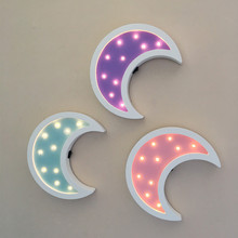 Nordic Wooden Led Neon Sign Moon Night light Baby's Room Wall Decorations Home Decor Coffee/Bar Mural Crafts Gifts Best Gifts(China)