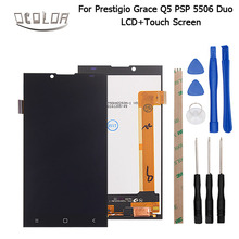 For Prestigio Grace Q5 PSP5506 Duo LCD Display and Touch Screen Original Screen Digitizer Assembly Replacement +Tools+ Adhesive
