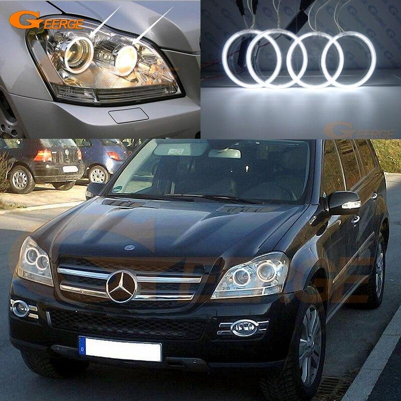 For Mercedes Benz GLS Class X164 GL320 GL350 GL420 GL450 GL550 2007-2012 Excellent Ultra bright illumination CCFL Angel Eyes kit<br>