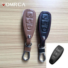 Hot 3 button leather key case for Ford Focus 3 classic design MK3 Kuga FugaST RS dust collector starline a93