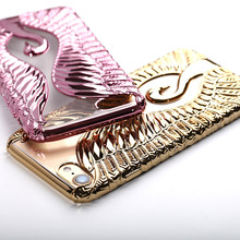 for iPhone 7 Case 2017 3D Swan Luxury Silicone Cell Phone Covers for iPhone 6s Cases 6s 6 Plus 7plus 8 8 Plus Capas Fundas 270S(China)