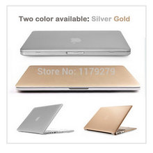 laptop Gold/Silver Sleeves Covers sleeve notbook Hard Cases Macbook air 11 pro 13 retina 12 15 Mac book without logo