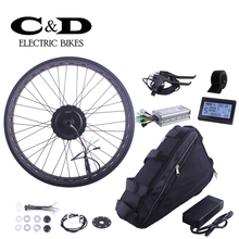 Electric Fat Bike kit ebike conversion kit 48V350W Motor wheel MXUS brand Triangle bag Lithium battery LED LCD display optional