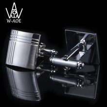 WAOE 2017 New Fashion Square Cross Business Suit Cuff Links Shirt Cufflinks For Mens Gemelos Cuff Buttons Men Jewelry