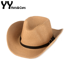 Classical Western Cowboy Kids Summer Straw Sun Hats Children Foldable Beach Caps Chapeaux Cowboy West Cappello Cowboy YY17153