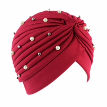 Green Pink Colored Women Beadings India Headwear Headwrap African Head Wrap Twist Hair Band Turban Bandana Bandage Accessories