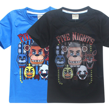 2017 Summer Children's Clothes Cartoon T-Shirts Five Nights At Freddy's  Boys Girls Clothing Kids T Shirt 5 Freddys Tops 3-12Y