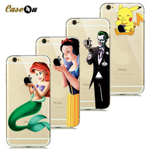 Buy Touch Logo Creative Phone Covers Case coque iphone 7 Plus 6s 6 5s SE Soft Silicone Case Pokemons Snow White Mermaid Capinhas for $1.08 in AliExpress store