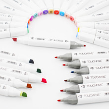 Customerized Colors Touch Five Markers Pen Double Headed Alcohol Soft and Broad tip for Animation Manga Design