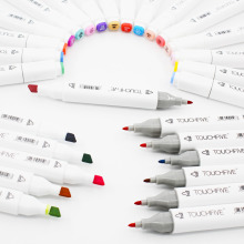 Customerized Colors TouchFive Markers Pen Double Headed Alcohol Soft and Broad tip for Animation Manga Design(China)