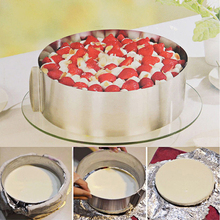 High Quality Retractable Stainless Steel Circle Mousse Ring Baking Tool Set Cake Mould Mold Size Adjustable Bakeware tools ZM(China)