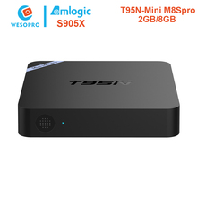 WESOPRO T95N Mini M8Sp Android Smart TV Box with amlogic S905X 2GB RAM 8GB ROM WIFI KODI android 6.0 tv box Mini PC Media Player