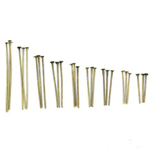 45mm Flat Head Pins eye pin studs beads spacer Needle earring jewelry making supplies crafts Dangle Charms Clasps Hooks kit(China)