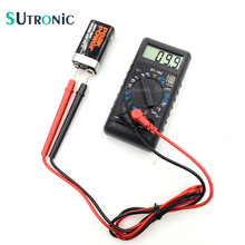 DT-182 Extra Mini Digital Multimeter with Buzzer Overload protect Pocket-size Voltage Ampere Ohm Meter Test Probe DC AC LCD