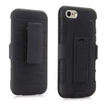 For Apple Iphone 4S 4G 5S 5G SE 5c  6 6S 7 Plus Touch 5 6 Armor Belt Clip Holster Stand Shockproof Silicone Hybrid Plastic Case
