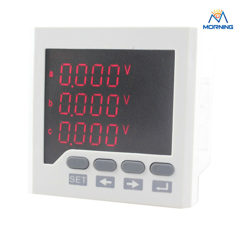 3D6 panel size 72*72 low price and high quality ac three phase led digital energy meter, for industrial usage<br>