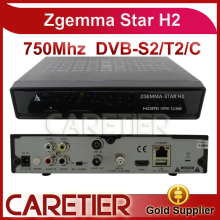 1PC Zgemma star H2, upgraded from Cloud ibox 3 Satellite Receiver Linux enigma 2 with Twin Tuner DVB-S2+DVB-T2/C Free Shipping(China)