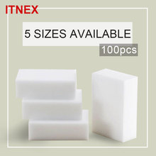 100pcs/lot 5 size Magic Sponge Melamine Sponge Eraser Pad Cleaner/durable Dish Washing Melamine Eraser Cleaning Sponge(China)