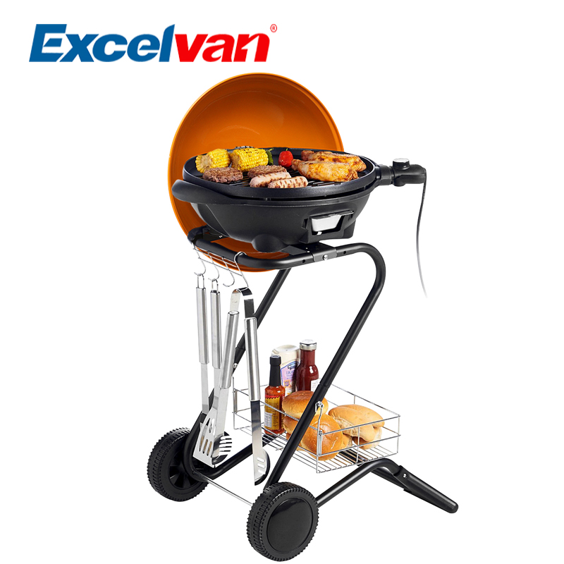 Excelvan Portable Electric BBQ Grill with 5 Temperature Settings Ideal for Indoor Outdoor Use Smokeless 1350W KYS-367S(China (Mainland))