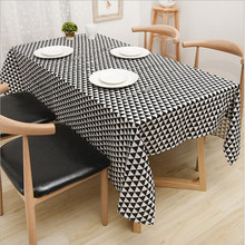 GGGGGO HOME,Fashion tablecloth linen/cotton fabric geometric kicthen table cover for home decoration(China)